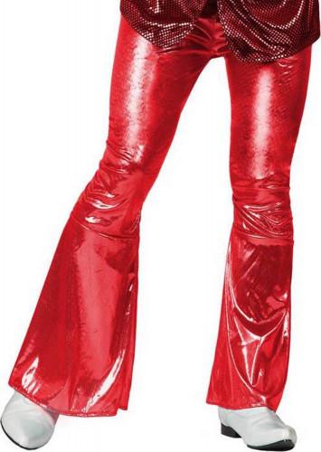 Rode discobroek voor mannen