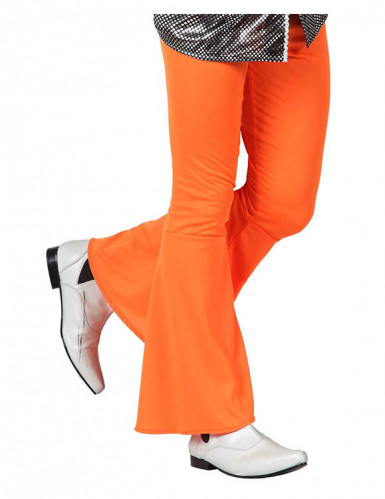 Oranje discobroek voor mannen