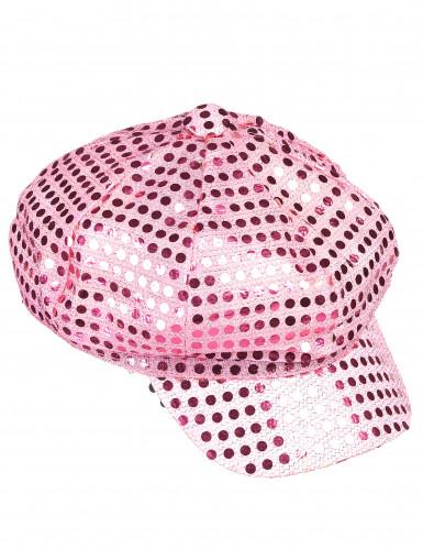 Roze discopet voor volwassenen-1