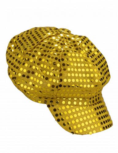 Goudkleurige discopet voor volwassenen-1