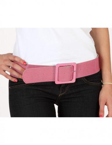 Roze glitterriem voor vrouwen
