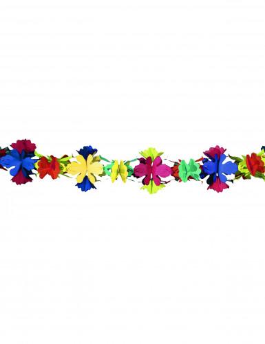 Slinger met papieren bloemen van 4 meter