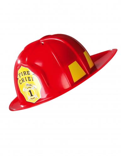 Rode brandweer helm voor volwassenen