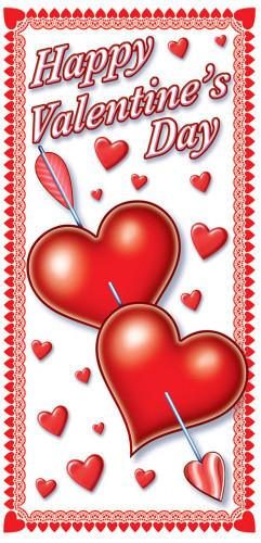 Valentijnsdag deursticker