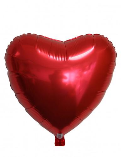 Rode hart ballon