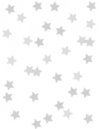 Zilverkleurige sterren confetti