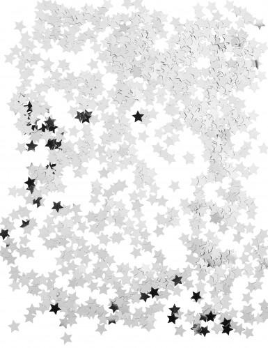 Zilverkleurige sterren confetti-1