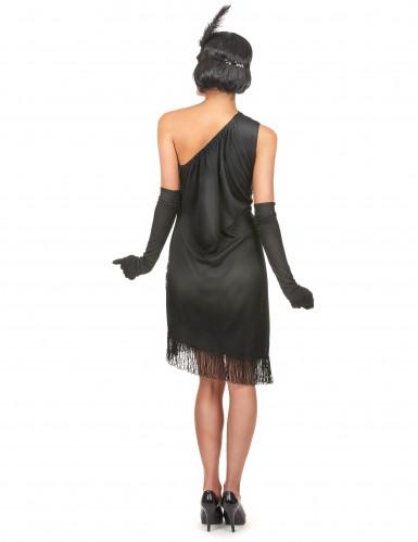 Zwart-rood Charleston kostuum voor dames-2
