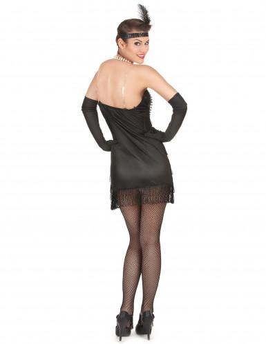 Zwarte Charleston kostuum voor dames-2