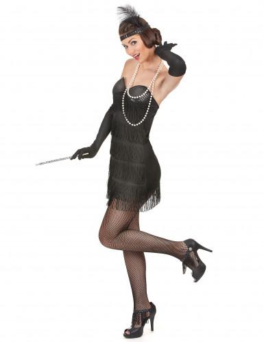 Zwarte Charleston kostuum voor dames-1