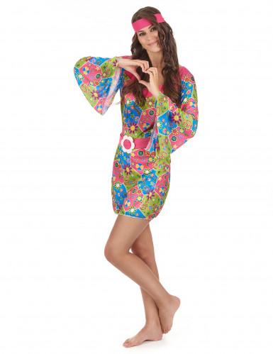 Hippie bloemen pak voor dames-1