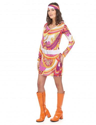 Licht hippie sixties kostuum voor vrouwen-1