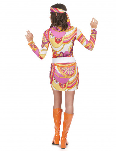 Licht hippie sixties kostuum voor vrouwen-2