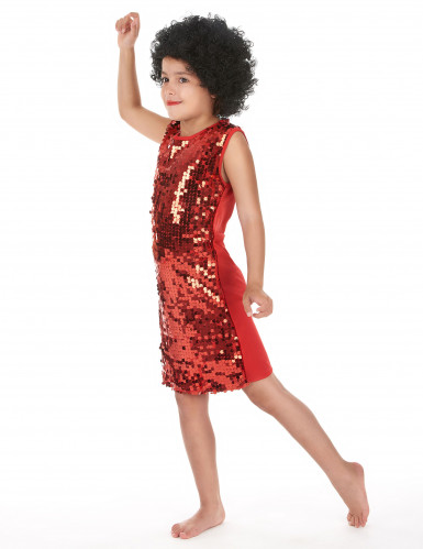 Rode disco jurk voor meisjes-1