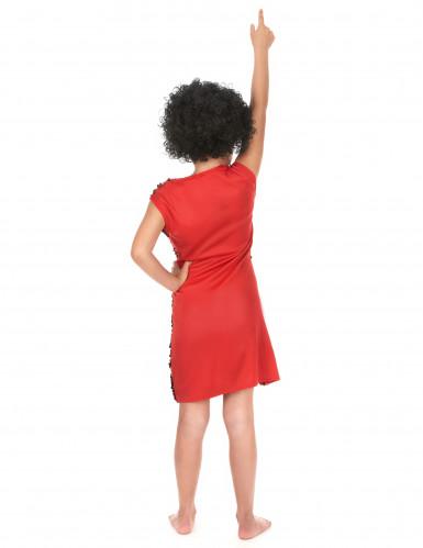Rode disco jurk voor meisjes-2