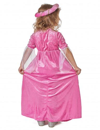Roze middeleeuwse fleur de lis prinses kostuum voor meisjes-2
