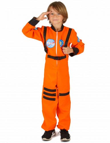 Oranje astronaut kostuum voor jongens