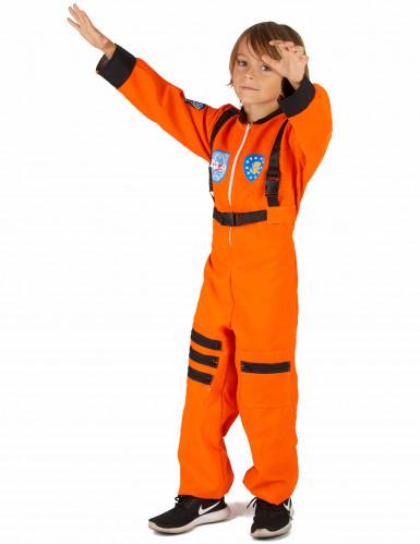 Oranje astronaut kostuum voor jongens-1