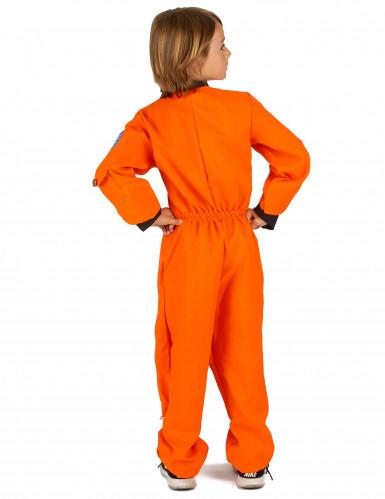 Oranje astronaut kostuum voor jongens-2