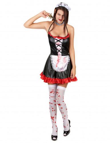 Verkleedkostuum bebloed kamermeisje voor dames Halloween kleding-1