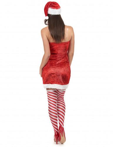 Sexy kerstvrouw pak voor dames-2