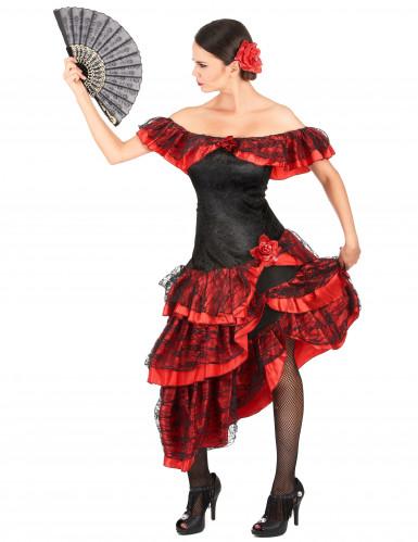 Elegante flamenco danseres outfit voor vrouwen