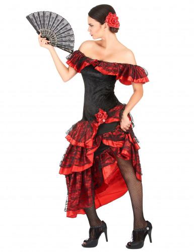 Elegante flamenco danseres outfit voor vrouwen-1