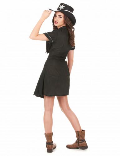Zwart cowgirl kostuum voor vrouwen-2