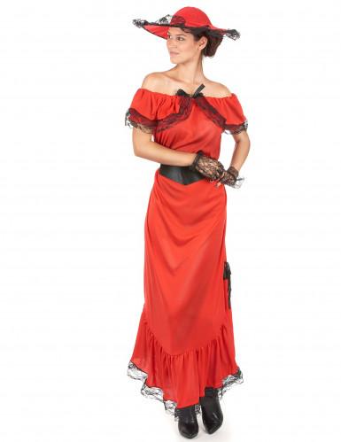 Rood Scarlett kostuum voor vrouwen