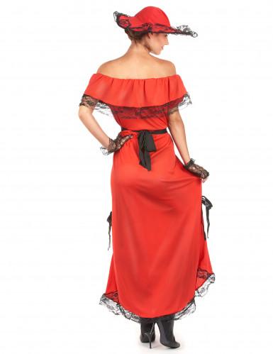 Rood Scarlett kostuum voor vrouwen-2