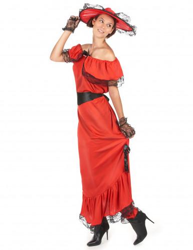 Rood Scarlett kostuum voor vrouwen-1