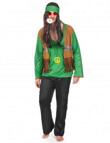 Groen flower power hippie pak voor heren