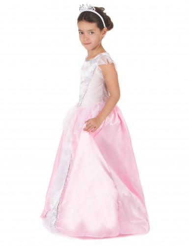 Roze en witte prinsessen kostuum voor meiden-1