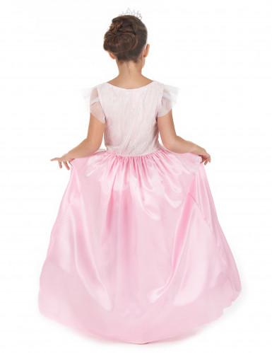 Roze en witte prinsessen kostuum voor meiden-2