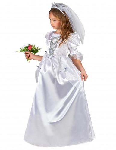 Witte bruid kostuum voor meisjes-1