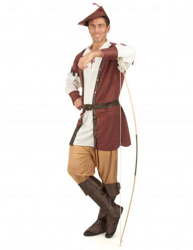 Bruin Robin Hood kostuum voor mannen-1