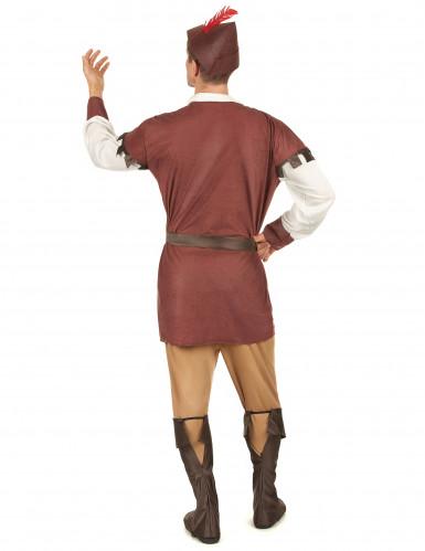 Bruin Robin Hood kostuum voor mannen-2