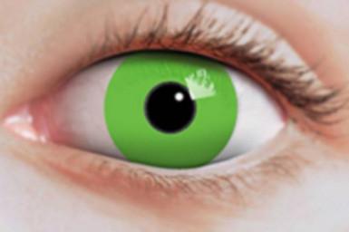 Fluo groene contactlenzen