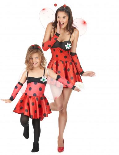 Lieveheersbeestjes kostuum moeder en dochter