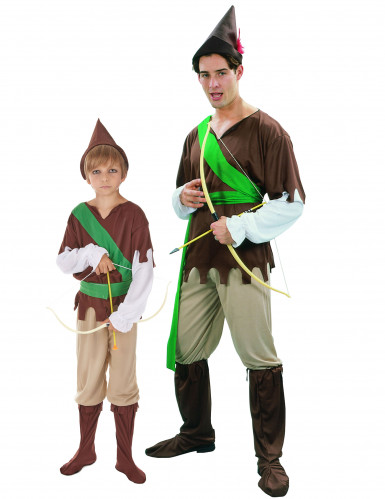 Robin Hood kostuums voor vader en zoon