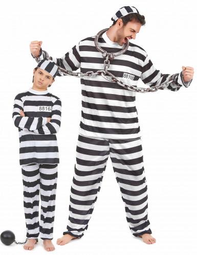 Duo Gevangenen kostuum vader en zoon