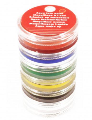 Schminktoren van 6 kleuren op waterbasis