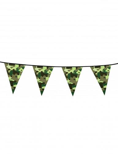Papieren camouflage vlaggenslinger