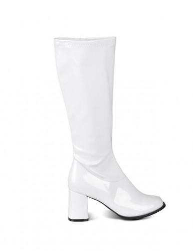 Witte lak laarzen voor dames