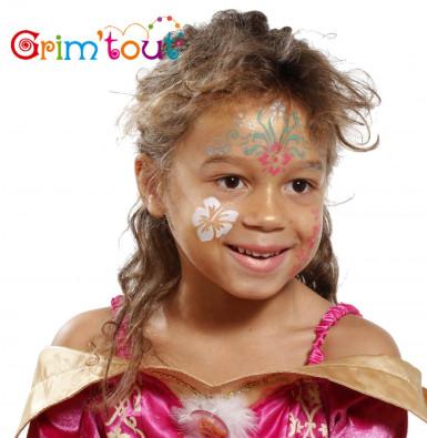 Herbruikbaar schminkstencil bloemen - Grim' Tout-1