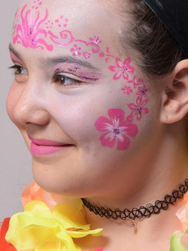 Herbruikbaar schminkstencil bloemen - Grim' Tout-2