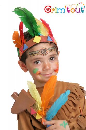 Herbruikbaar schminkstencil indianen - Grim' Tout-1