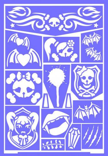 Make up stencil gothic prinses