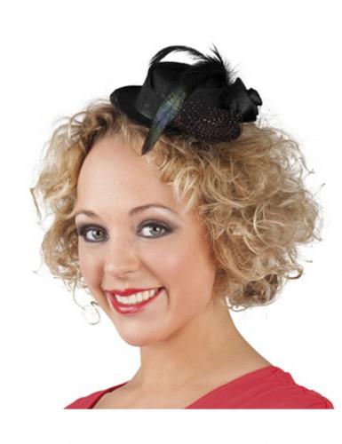 Mini hoed zwart voor dames