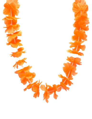 Oranje Hawaii ketting